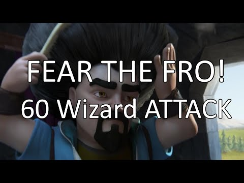 Clash Of Clans - 60 Level 6 Wizards Attack