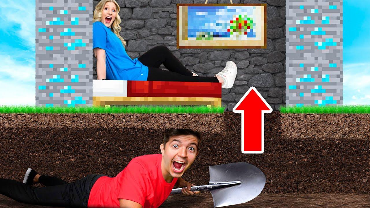 7 Ways to SNEAK into My Wife's Minecraft House!