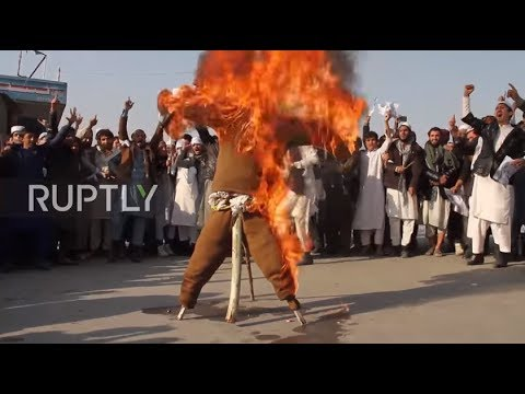 Afghanistan: Trump effigy goes up in flames at Jalalabad protest