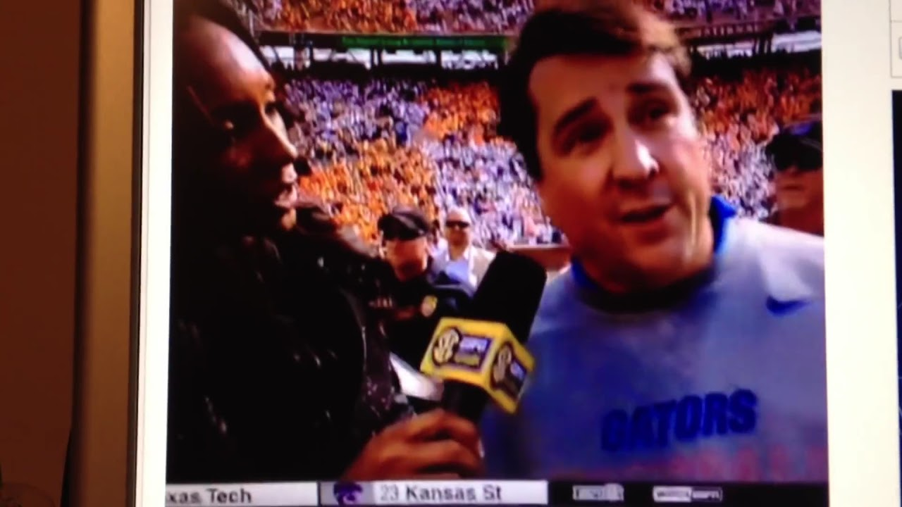 Will Muschamp's post-game interview after Florida defeated ...