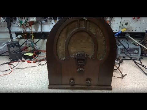 Repair Of A 1932  Philco JR Model 81 Cathedral Tube radio