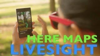 LiveSight for Here Maps - Demo on Nokia Lumia 928