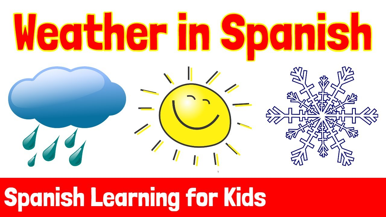 Weather in Spanish | Spanish Learning for Kids