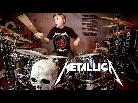 BLACKENED - METALLICA - Drum Cover by Avery Drummer