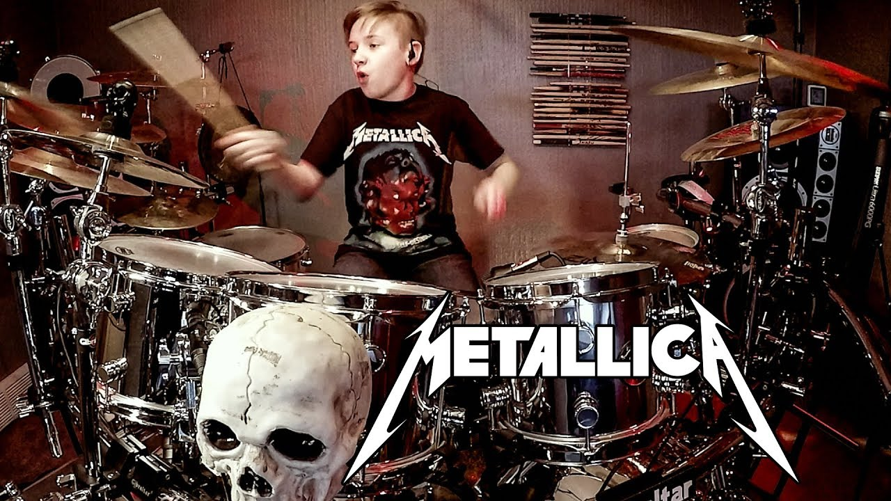 blackened metallica drum cover by avery drummer youtube