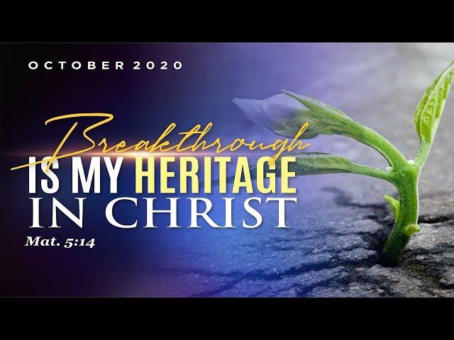 WEEK OF SPIRITUAL EMPHASIS - DAY 3    OCTOBER 09, 2020  
