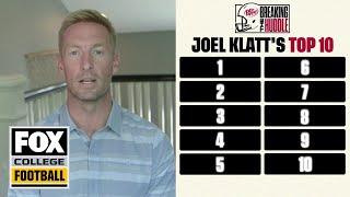 Joel Klatt reveals his latest college football Top 10 list | BREAKING THE HUDDLE | CFB ON FOX