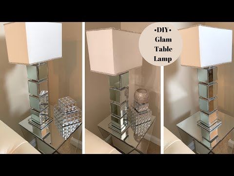 Modern Glam Table Lamp DIY || Home Decorating for Less