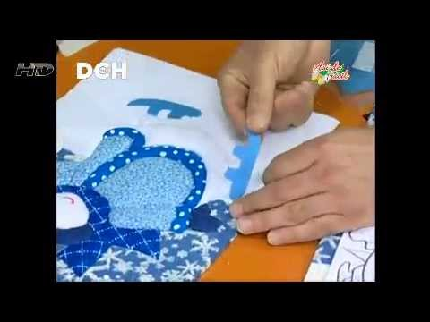 Cuadro navide o con la t cnica patchwork sin agujas youtube - Hacer password manualidades ...