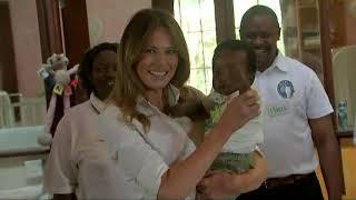 Melania Trump visits orphanage in Kenya