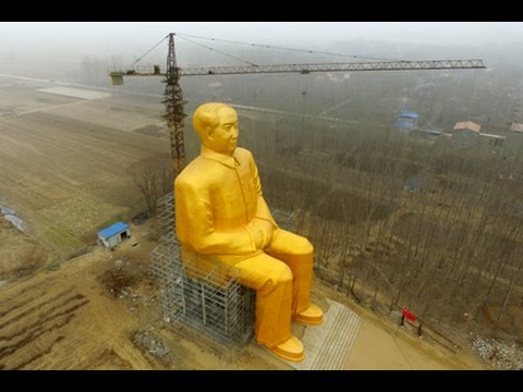 Золотая статуя Мао Цзэдуна