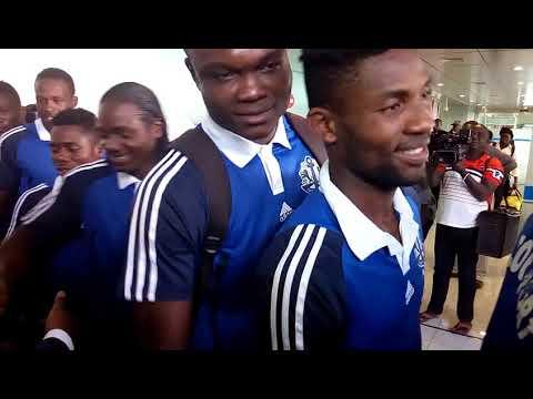 Arrivé des joueurs de l'As Togo Port