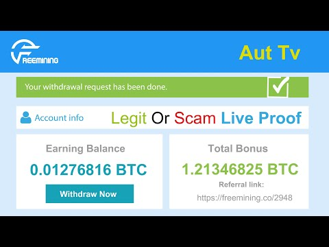 Freemining.co New Free Bitcoin Cloud Mining Site Legit Or Scam 0.002 BTC Live Withdraw Payment Proof