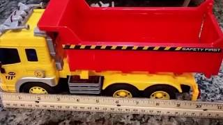 Thinkgizmos dump truck review, Dump truck toy, Push And Go Toy, lights and sounds toy