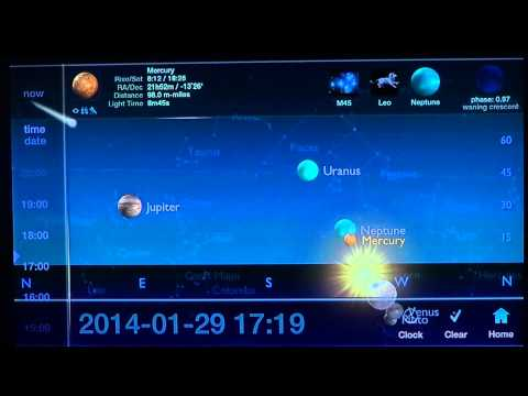 Position of Planets June