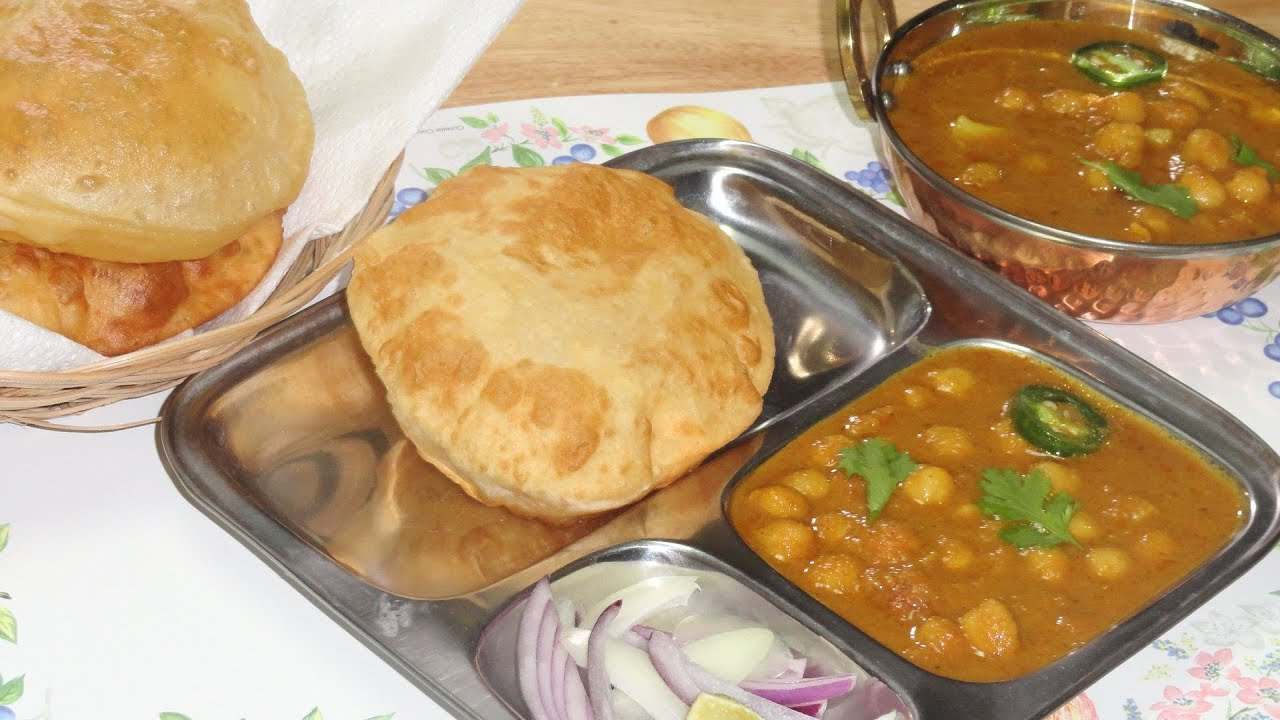 Easy Chole Bhature Recipe Video by Bhavna  Complete Meal