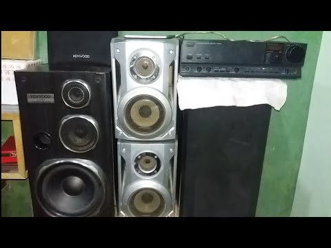 Sansui Stereo Amplifier 900CD.R Kenwood & panasonic speaker sound review 2019