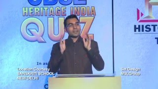 Cbse heritage india quiz 2015 national final on historytv18 (part 2)