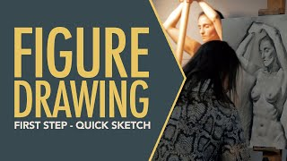 How to draw Figure. First step-quick sketch
