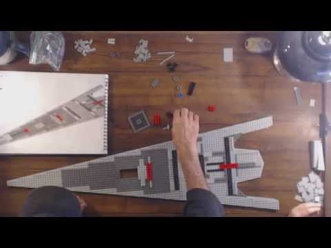 Star Wars LEGO Executor Class Star Destroyer 10221 real time build video 1