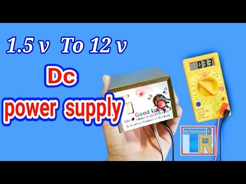 15 To 12 V Dc Power Supply Battery Eliminator How To Make Youtube