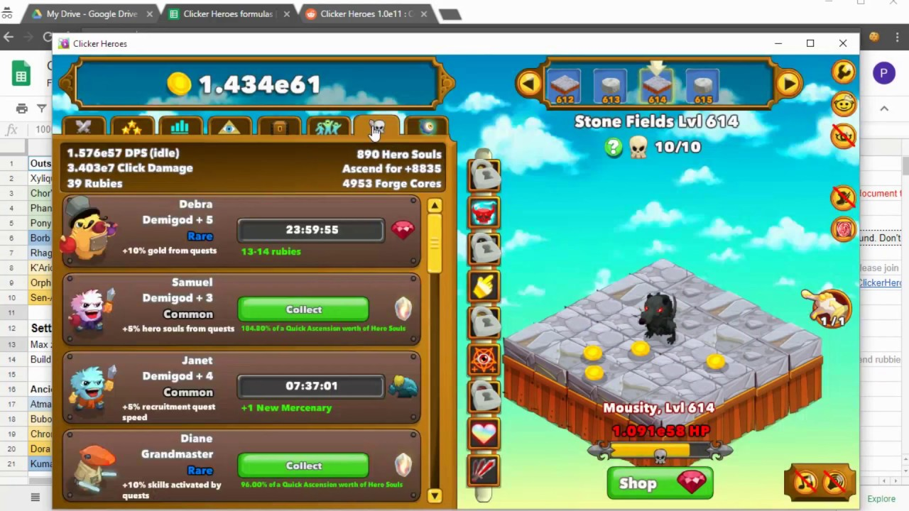 clicker heroes how to get gold fast