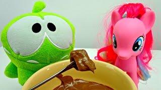 Видео для детей. Шоколадное фондю для Ам Няма и Пинки Пай. Обучающее видео