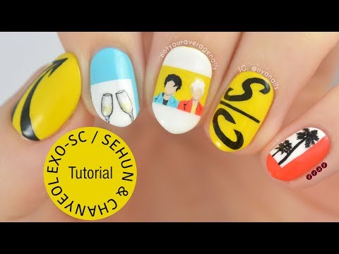 "EXO-SC ""What a Life"" Nail Art Tutorial thumbnail"