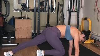 High plank knee pull