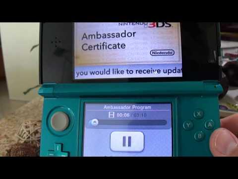 Downloading Software - Nintendo 3DS Ambassador Certicate
