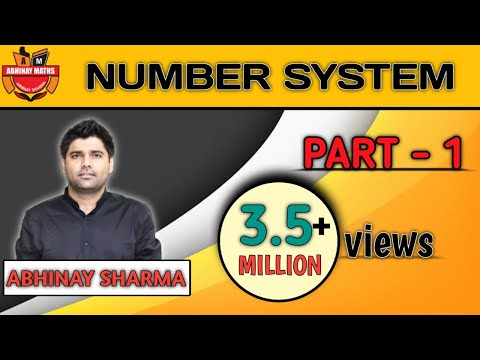 Number System Part 1 🚨 Most Advanced Classification Of Number - Abhinay Sharma (Abhinay Maths) 🚨