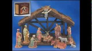 12 Piece Figurine Digiovanni Nativity Set With Wood Stable (hand Crafted) - Gfchr1035