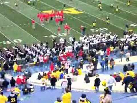 Ohio State band marching into Michigan stadium