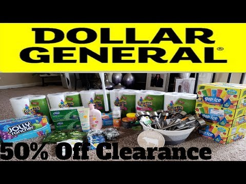 Dollar General 50% Off Clearance Sale/Haul August 24-26