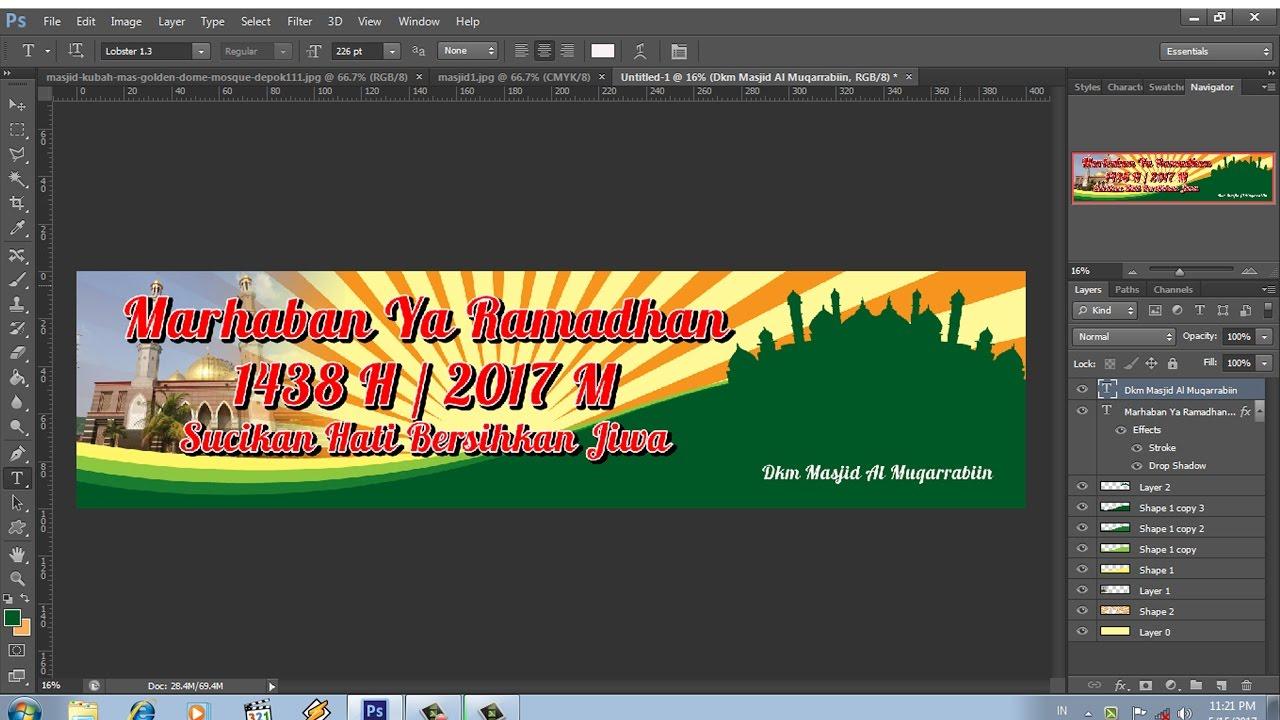 Cara Membuat Banner Menyambut Bulan Suci Ramadhan