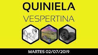 Resultado Quiniela VESPERTINA martes 2 de Julio de 2019 [17:30 hs]