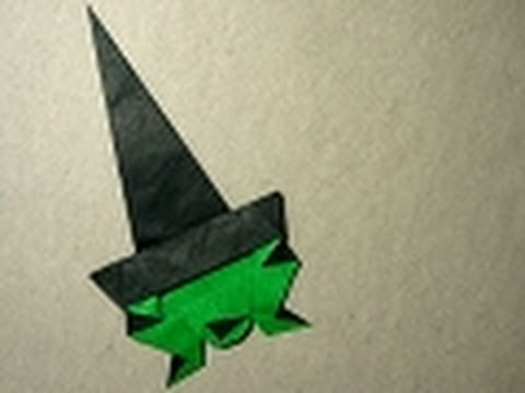 Halloween Origami Instructions: Crooked Witch (Andrew Hudson)