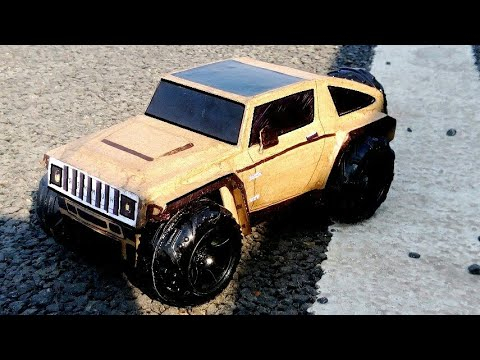 How To Make A Car | Hummer Hx | Cardboard Craft RC Car | DIY Rc Car