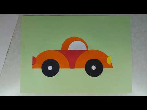 Машинка из цветной бумаги своими руками