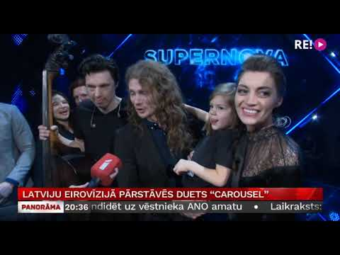 """Latviju Eirovīzijā pārstāvēs duets """"Carousel"""""""
