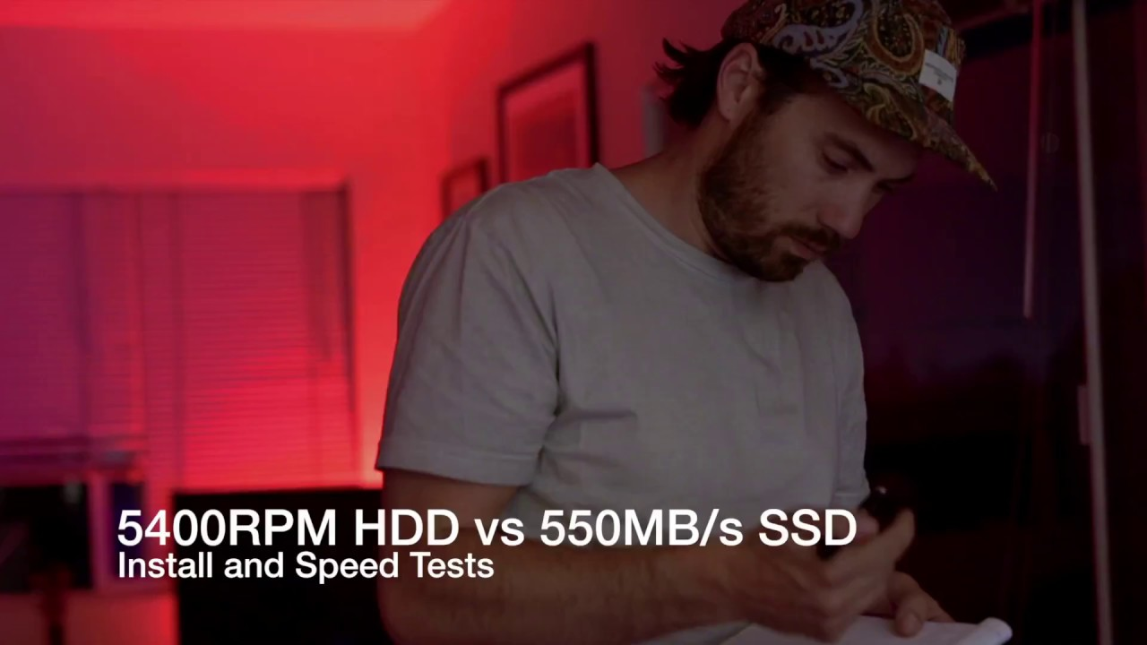 Ssd Vs Hdd Upgrade Speed Test 2017 Macbook Pro W Osx Youtube
