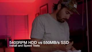 SSD vs HDD | Upgrade & Speed Test 2017 | MacBook Pro w/OSX