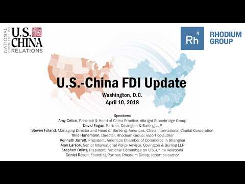 U.S.-China FDI Update 2018