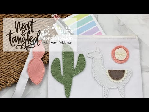 Neat & Tangled Cactus and Llama with Benzie Design with Koren Wiskman