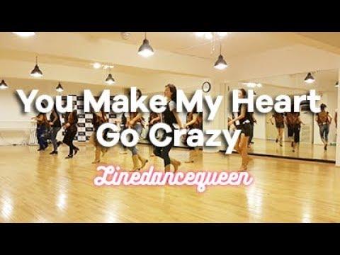 You Make My Heart Go Crazy Line Dance (Nancy Lee) Phrased Beginner Demo & Count