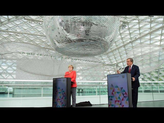 Bundeskanzlerin Angela Merkel zu Besuch im Ständehaus K21