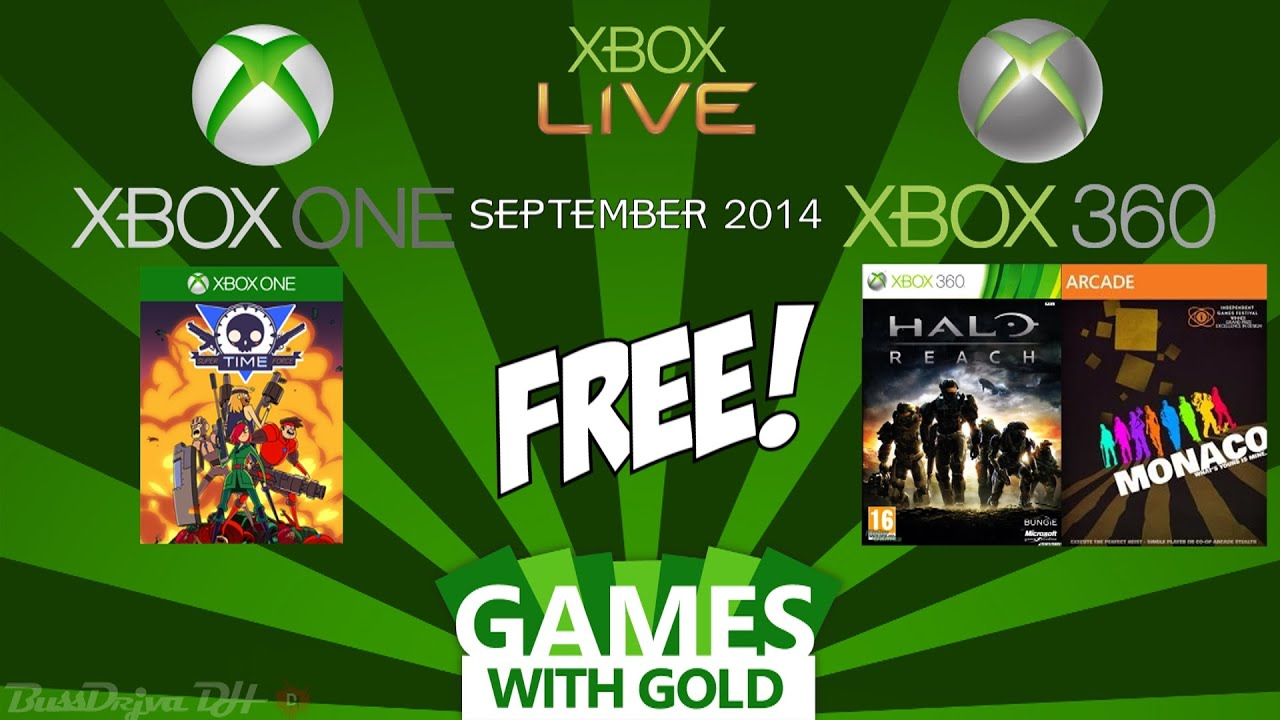 Xbox Games With Gold September 2014 Xbox One Xbox