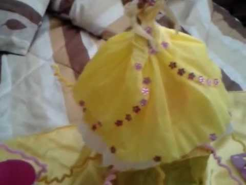 centro de mesa de la princesa bella - YouTube