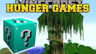 Minecraft: JERRY'S TREE HUNGER GAMES - Lucky Block Mod - Modded Mini-Game