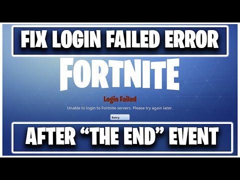 FIX Fortnite UNABLE TO CONNECT TO SERVERS ! ( FIX LOGIN FAILED ERROR )